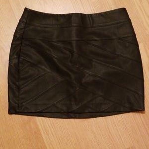 Black pleather skirt